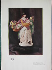 1921 STUDIO PRINT ~ THE TULIP GIRL BY CHARLES VYSE
