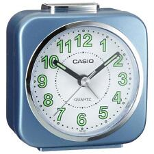 Casio tq143/2 neo display luminoso rivestito Sveglia con Luce & Snooze-Blu