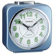 Casio TQ143/2 Neo Display Luminous Coated Alarm Clock with Light & Snooze - Blue
