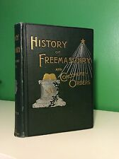1893 History Of Freemasonry & Concordant Orders (Occult Masons Masonic Secret)