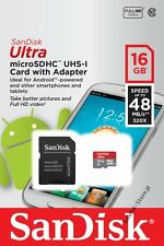 16GB SanDisk Ultra 320x 48MB/s Class 10 Micro SD SDHC Memory Card New