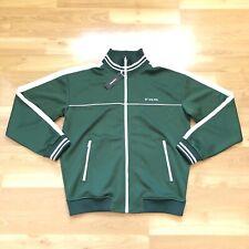 Diesel Men S Roots Green White Zip Up Track Gym Jacket New Size XXL $148