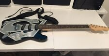 Six Flags Exclusive Superman Electric Guitar Ltd Ed 2011 Black w Grey Shield