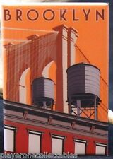 "Brooklyn Travel Poster 2"" X 3"" Fridge / Locker Magnet. New York NYC"