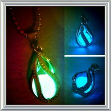 Women's Jewelry Teardrop Magic Fairy Glow In The Dark Pendant Necklace *NEW*