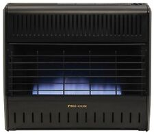 Procom 30000 BTU Vent Free Dual Fuel Blue Flame Gas Garage Heater w Thermostat