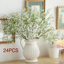 24pcs Gypsophila Baby's Breath Artificial Fake Silk Flower Home Wedding Decor HA