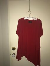 Ladies Luna Tunic Top - Red - Size 20