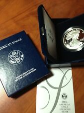 2004 PROOF AMERICAN SILVER EAGLE COIN - BOX & COA - DEEP CAMEO AC