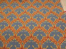 "Rouge & or baroque leaf ""seymour"" imprimé 100% coton rideau tissu"