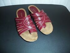Ladies Sandals, Kate Ann, Red, Size 9 1/2 W (D), EXCELLENT