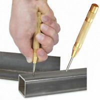 130mm/5 Brass Automatic Center Pin Punch Strike Spring Loaded Marking Hole Tool