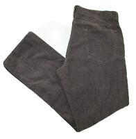 J Crew Mens Size 34 x 32 Brown Corduroy Straight Jeans Pants