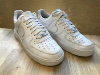 Nike Air Force 1 AF1 Mens UK 9 US 10 EUR 44  White Leather Trainers Low Top