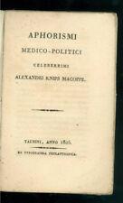 KNIPS MACOPPE ALEXANDRI APHORISMI MEDICO-POLITICI CELEBERRIMI PHYLANTROPICA 1805