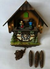 Seth Thomas German Chalet Musical Cuckoo Clock Wooden Vintage '70s For Repair