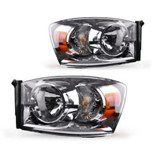 For 2007-2008 Dodge Ram 1500 2500 3500 Replacement Headlights Lamps Left+Right