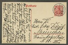 GANZSACHEN-POSTKARTE DEUTSCHES REICH 40 Pf. GERMANIA, gelaufen 1921