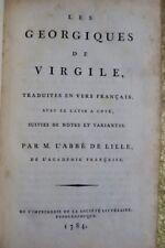 Les Géorgiques de Virgile en vers français 1784