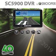 """Snooper SC5900 DVR G2 Dash Cam GPS Camera Car Lifetime Maps Sat Nav 5"""" UK & EU"""