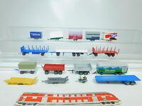 BN204-1# 16x H0/1:87 Anhänger für LKW etc: THW+Busch+ADAC+Bärenmarke etc