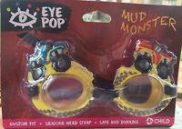 "Aqua Leisure/Eye Pop ""Mud Monster"" Trucks Kids Swim Goggles NIB 🆓📬"