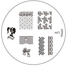 Original Konad Stamping Schablone M71 für Nailart und Nageldesign