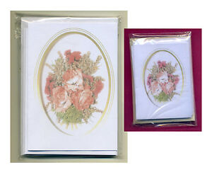 16 & 20 DRIED ROSES LETTER NOTELETS & GIFT NOTELETS by SELF-REP' ARTIST FREE P&P