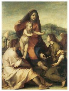 Virgin Child Saint Angel Del Sarto 1509 Great Art Painting Poster Print 24x36