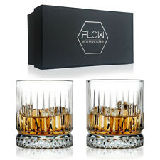 GEO Whiskey Glasses Bar Gift Scotch, Gin, Bourbon G&T Glass Tumblers BOXED