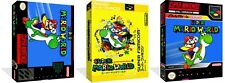 Super Mario World SNES Replacement Game Case Box + Cover Art work (No Game)