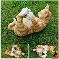 Brand New Playing Cat Garden Ornament Home Decorative Indoor / Outdoor Decor