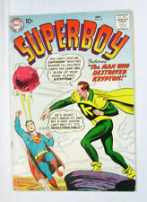 Superboy #67 1958 DC Comic Man Who Destroyed Krypton c/story Krypto story Swan