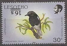 Lesotho 1990/91 Birds 16s on 30s inverted overprint