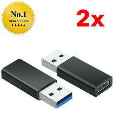 2x USB A 3.0 Adapter Stecker auf USB-C 3.1 Buchse Laden Konverter Macbook Laptop