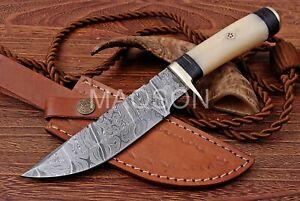 Damast Messer Damaszener Stahl Jagd Knife Damascus Hunting Bowie