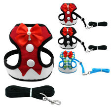 Padded Gentleman Dog Tuxedo Suit Clothes Small Dog Harness&Leash Set S M L