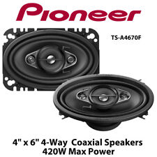 """Pioneer TS-A4670F - 4"""" x 6"""" 4-Way Car Coaxial Replacment Speakers 420W Max Power"""