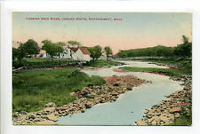 Mattapoisett Ma Mass Herring Weir River looking south, home, 1911