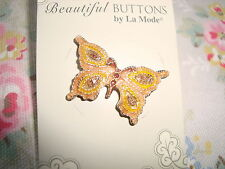 Card La Mode Metal / Enamel Butterfly Button
