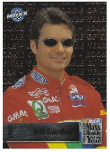 Jeff Gordon 1997 Maxx 1993 Winston Cup Rookie Of The Year Embossed Insert Card