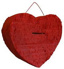 Urne bordeaux en forme de coeur ou à suspendre façon pignata tirelire mariage
