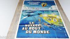 LE VOYAGE AU BOUT DU MONDE ! j yves cousteau affiche cinema  1976