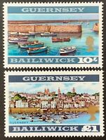Bailiwick of Guernsey. Definitives 10/- & £1 Unmounted SG27/28.  MNH. (Y170)