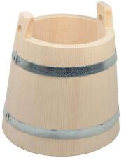 Saunakübel Aufgusskübel Kübel Bottich 2 Griffe 2 Liter Höhe 20 cm Fichtenholz