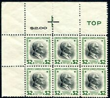 USA-1938 Presedential Services $2 Block of 6 Unmounted Sg 830 UNMOUNTED MINT