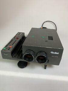 ROLLEI Rolleivision 35 Twin Digital P slide projector W/ 2 Xenotar 60mm F2.8 HFT
