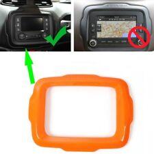 Orange For Renegade 2015-2018 Auto ABS Interior Dashboard Navigation Frame Trim