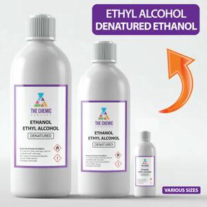 ETHANOL Denatured Alcohol, Ethyl Alcohol - 100ML, 300ML, 1L, 5L, ALL SIZES