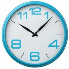 Round Plastic Wall Clock Multi Frame White Dial Black Hands